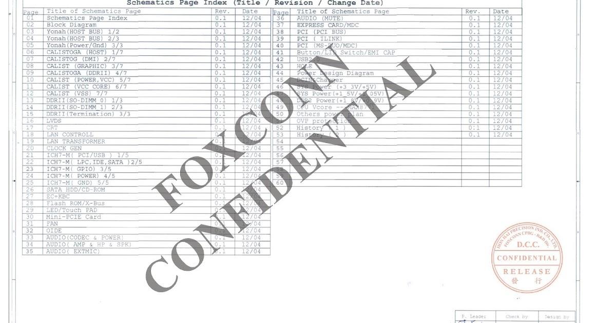 Esquema Elétrico: Foxconn Placa Mãe MS72-1-01 MBX-168 rev0.1
