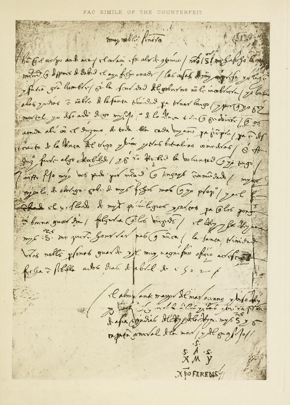Cristobal Colon Not Columbus False Documents Of The