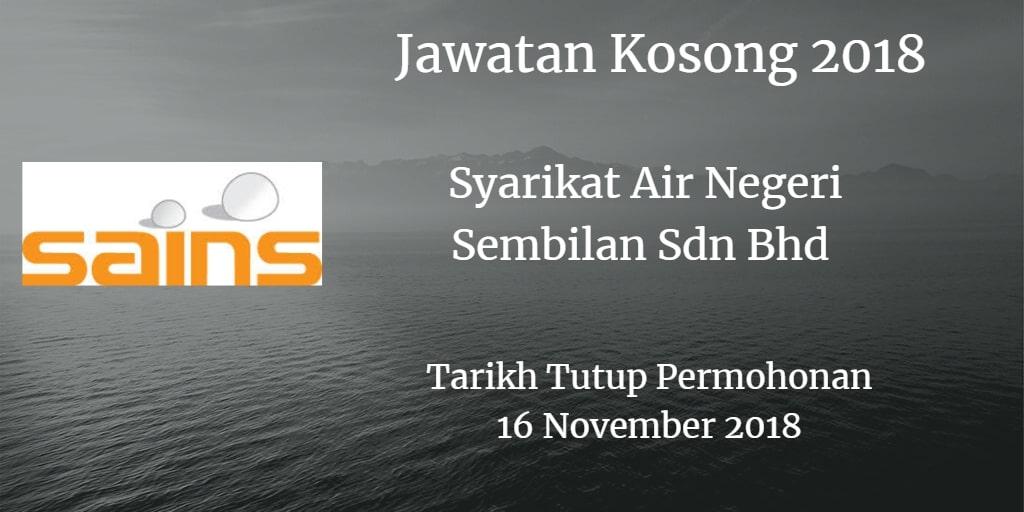 Jawatan Kosong SAINS 16 November 2018