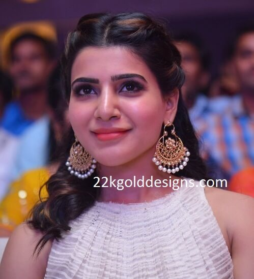 Samantha in Moni Agarawal Chandbalis