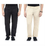 Urbano Fashion Multi Slim Fit Flat Men Trousers rainingdeal.in