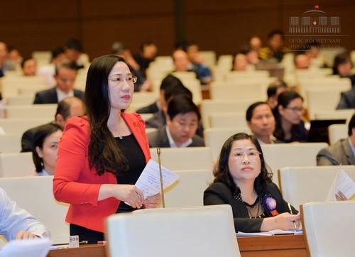 Đại biểu Nguyễn Thị Thủy, đoàn Bắc Kạn