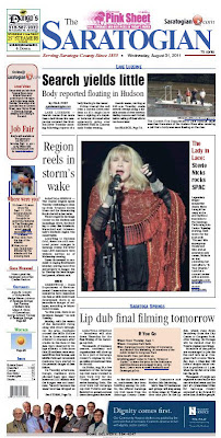Fleetwood Mac News: Stevie Nicks Front Page of The Saratogian