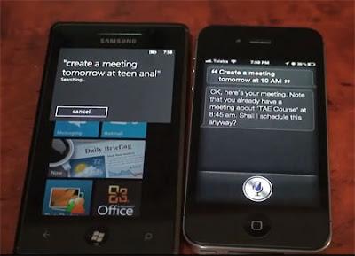 Tech Tac Toe: Microsoft Tellme : Apple Siri
