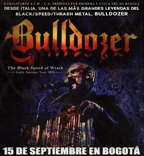 Concierto de BULLDOZER en Bogota 2018
