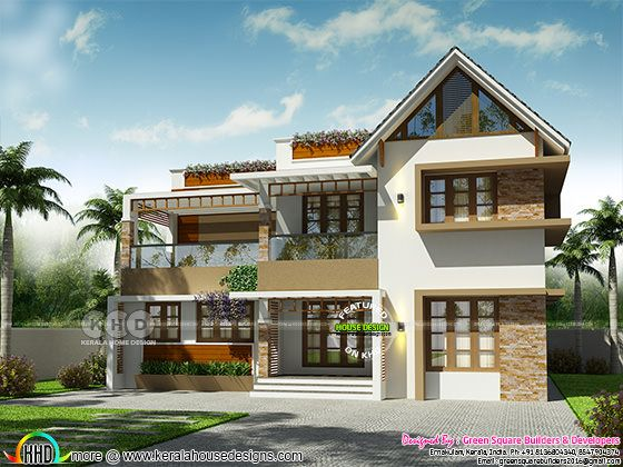 2260 square feet mixed roof 4 bedroom house
