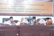 DPRD Kab.Kep.Selayar Sahkan Perda Pembentukan Dan Susunan Perangkat Daerah