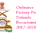 Ordnance Factory Project Nalanda Recuritment 2017-2018 Notification www.ofbindia.gov.in