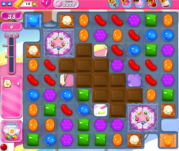 Candy Crush Saga level 2222