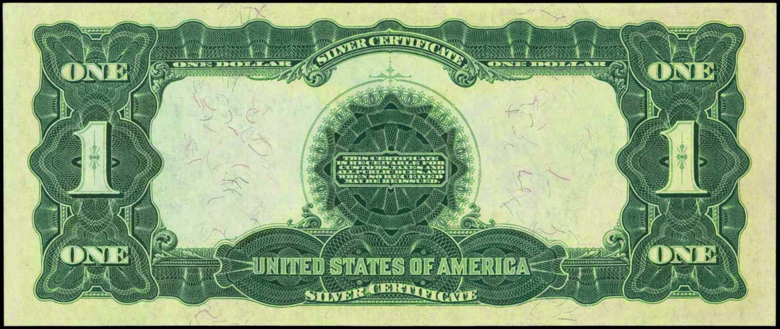 1899 One Dollar Silver Certificate Black Eagleworld Banknotes