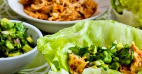 Slow Cooker Recipe For Spicy Shredded Chicken Lettuce Wrap ...