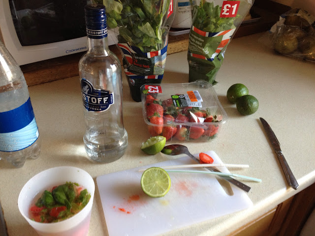 ingredients strawberry basil mojito