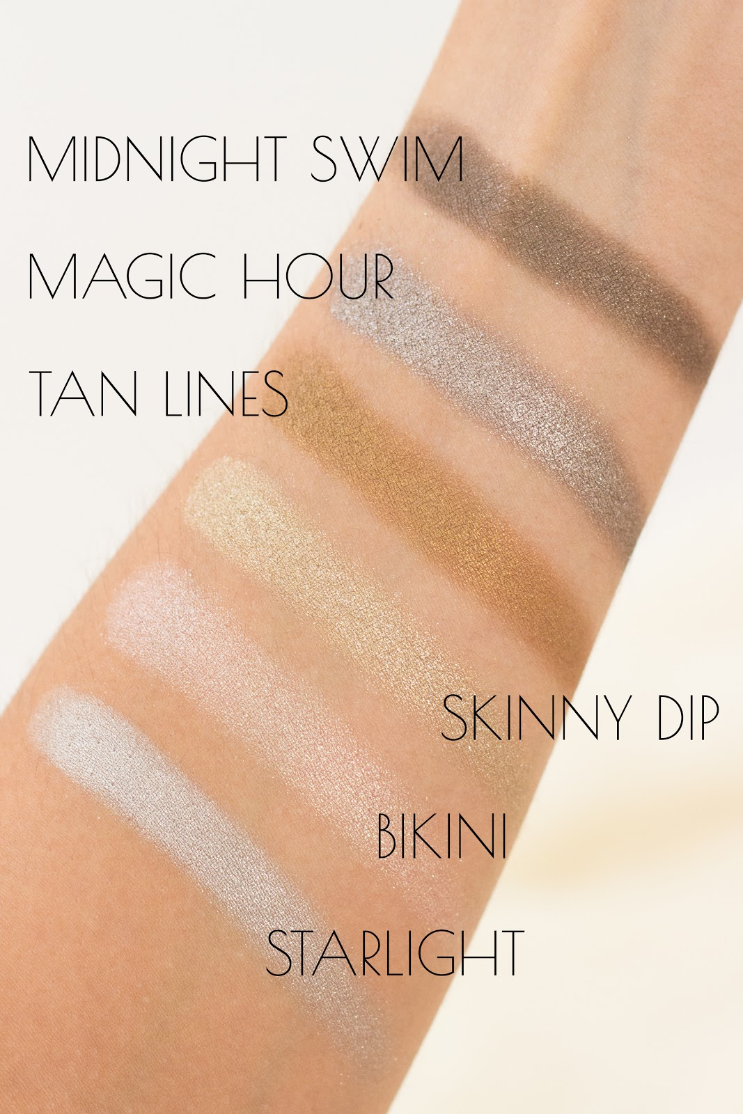 Jouer Skinny Dip Ultra Foil Shimmer Eyeshadow Palette Swatches