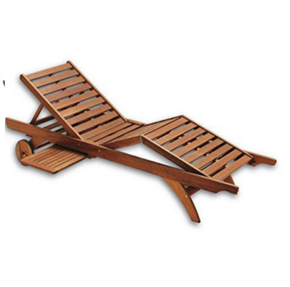 Chaise Lounge Chair In Keruing Aloe