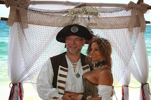 Pirate wedding at Englishman's Bay Tobago