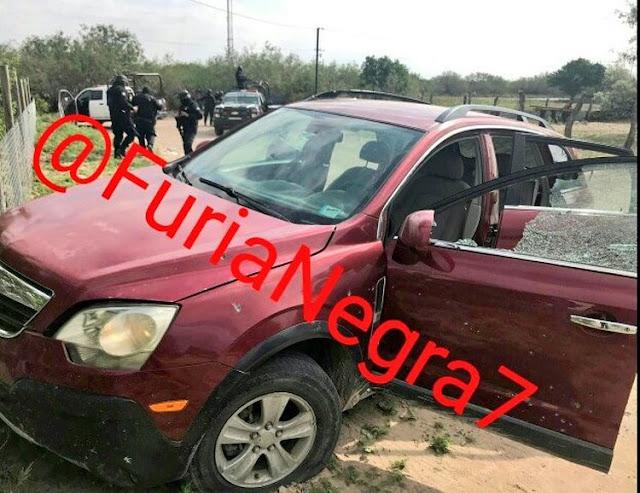 """Fuerzas se enfrentan """"de poder a poder"""", al tú por tú y abaten a dos sicarios que escapaban en una camioneta en Tamaulipas"""