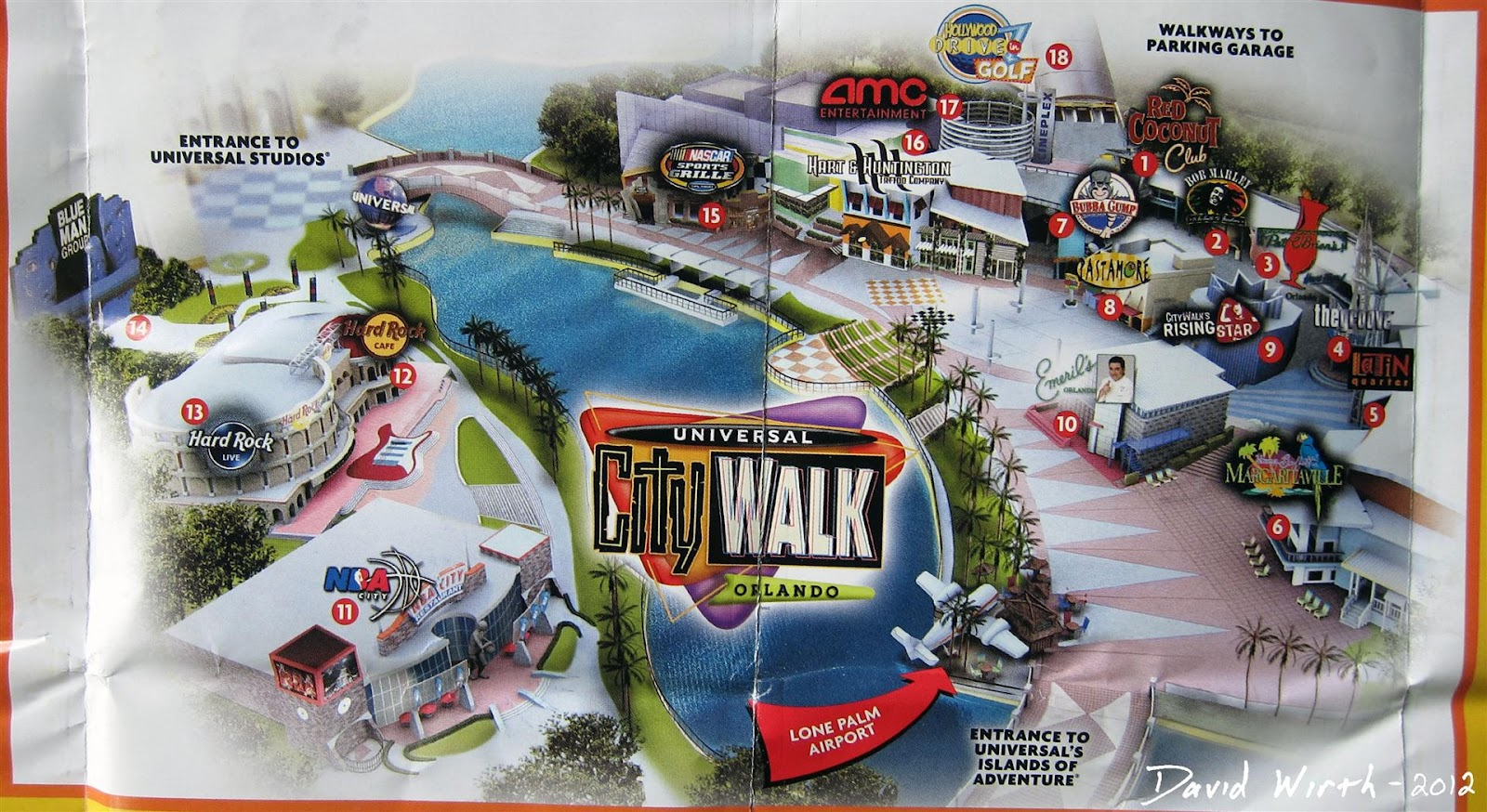 Universal Florida Map.Map Universal City Walk Restaurants