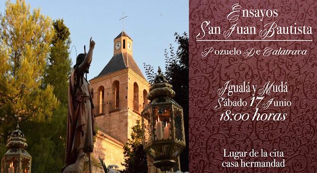 Salida procesional del San Juan Bautista de Pozuelo de Calatrava