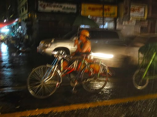 rainy Yangon night