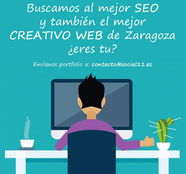 Oferta de trabajo SEO y DISEÑADOR WEB en Zaragoza
