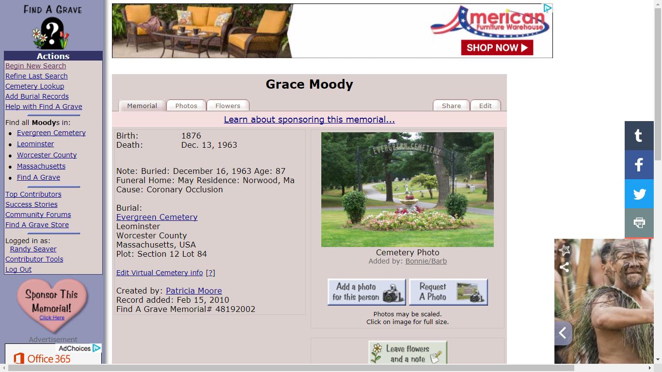 Genea-Musings: Dear Randy: How Do I Post a Find A Grave Hint on