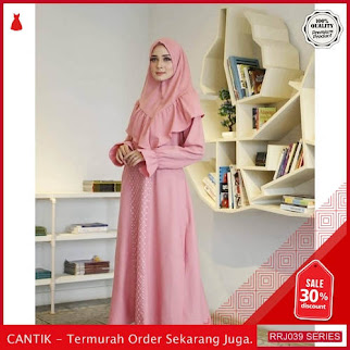 Jual RRJ039D125 Dress Muslim Ashari Wanita Syari Sf Terbaru BMGShop