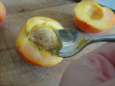 removing peach pit