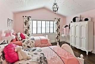 Dormitorio negro rosa