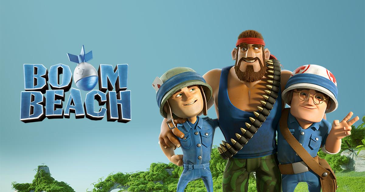 تحميل لعبة boom beach مهكرة جاهزة