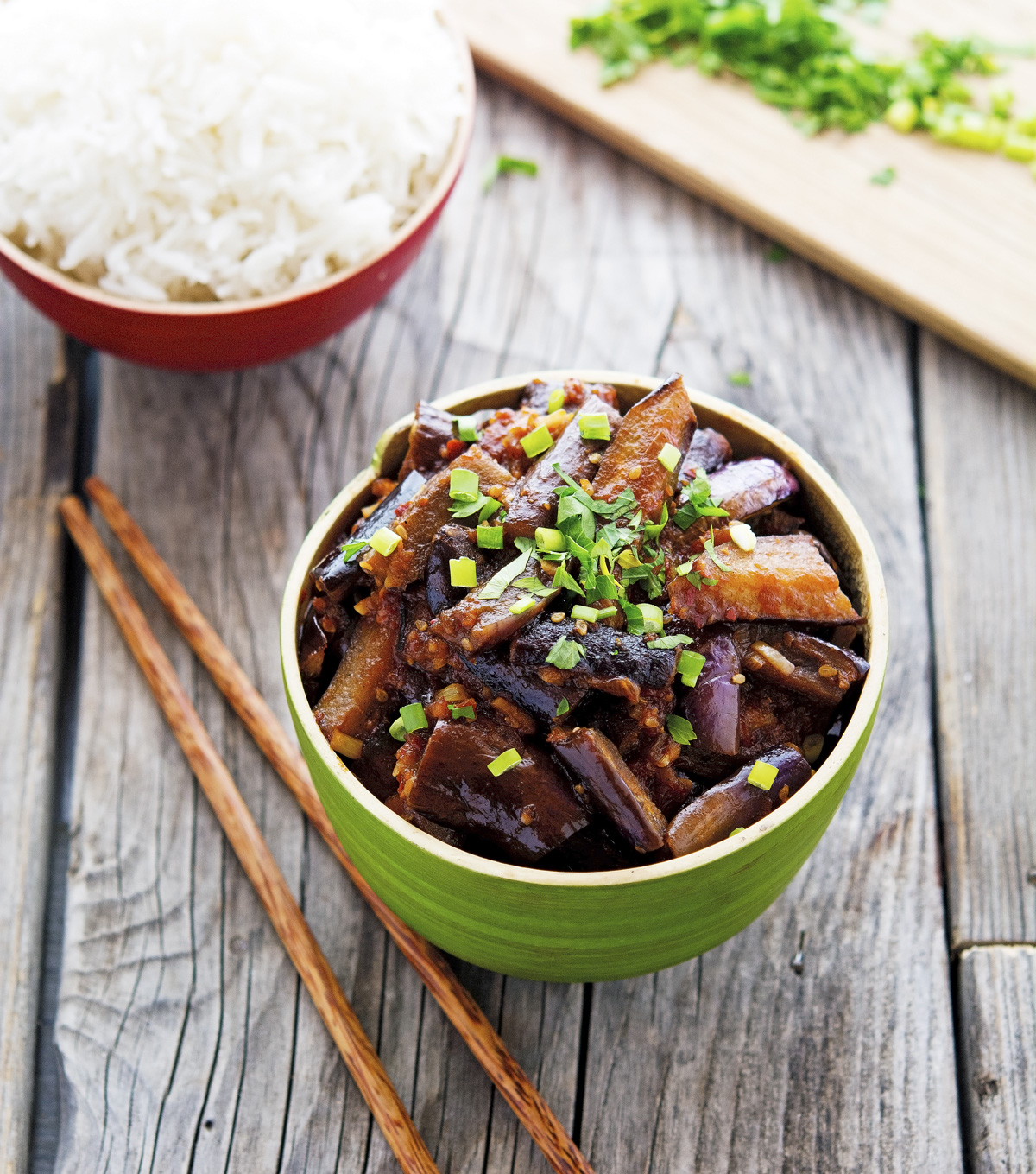 Spicy Vegan Chinese Eggplant