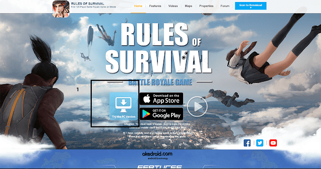 Situs Web Resmi Cara Main Game Rules Of Survival Gratis di PC Komputer Laptop