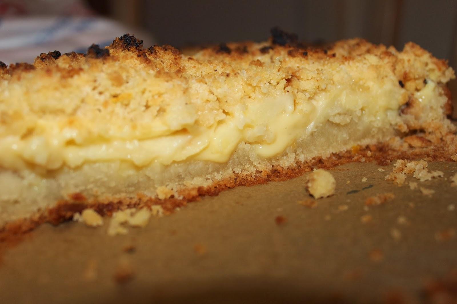 Susses Salziges Veganer Apfel Vanillepudding Kuchen