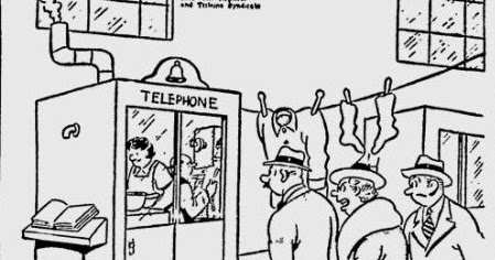 1940's advertising and humor: 1942 NEWSPAPER CARTOON