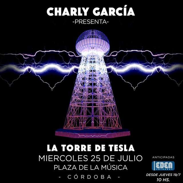 Charly García vuelve a Córdoba con la Torre de Tesla el 25 de julio