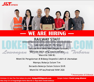 We Are Hiring J&T Express Sidoarjo Terbaru April 2019
