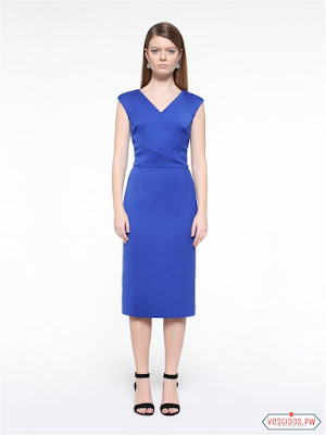 Vestido azul elegantes