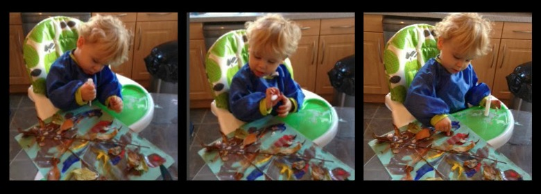 Leaf Art Project - Autumn  Craft for Toddlers
