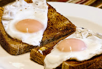 Healthy breakfast of wholemeal toast and protein filled eggs
