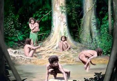 Ilustrasi orang Bunian.