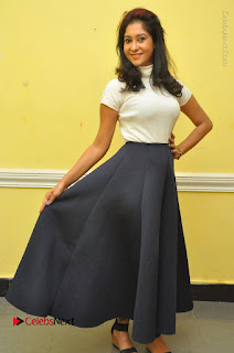 Telugu Actress Sindhu Affan Latest Pos in Black Skirt at Www.Meena Bazaar Movie Opening  0047.JPG
