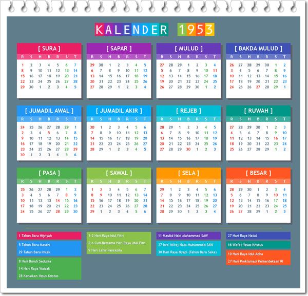 Kalender Jawa 1953