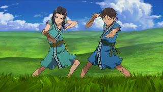 Screen z Kingdom na którym jest Hyou i Shin podczas treningu
