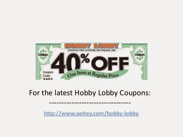 Hobby Lobby 40 Weekly Coupon