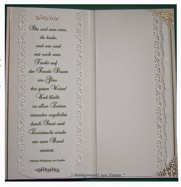 Handgemacht Von Renate Fur Zwei Hochzeitskarten Spruche Von Johann