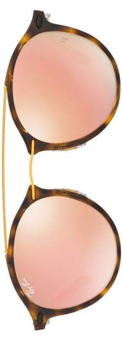 Ray-Ban Phantos Double-Bridge Mirrored Sunglasses
