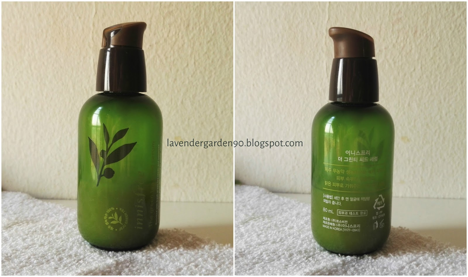 Carolyns Lavender Garden Review Innisfree The Green Tea Seed Serum 80ml Main Ingredients Are 759 Extract And 208mg Oil Rest All Texture Solvents Emulsifiers Fragrance