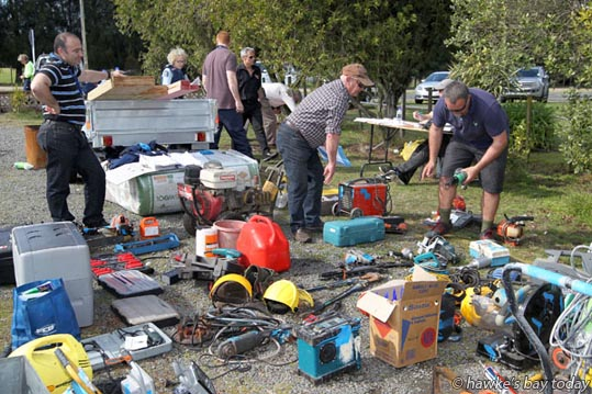 Builders and tradesmen were amongst those who recovered their gear from a huge stash of stolen goods discovered by police at a property in Bridge Pa. photograph