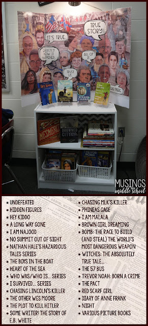 "November Book Display - ""True That!"""