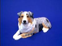 Sandicast Australian Shepherd figurine dog statue