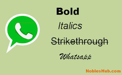 bold,italics and strikethrough